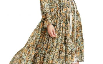 Spring is the best match for floral dresses!